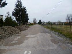 Droga w Okunince-stan przed realizacją inwestycji