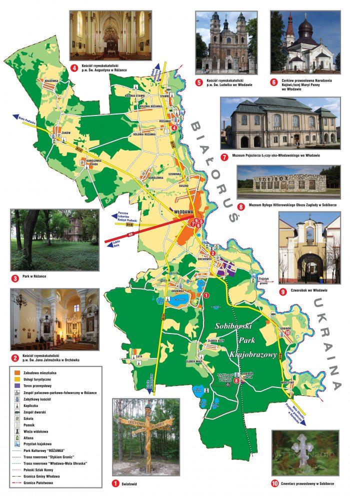 Gmina Włodawa na mapie