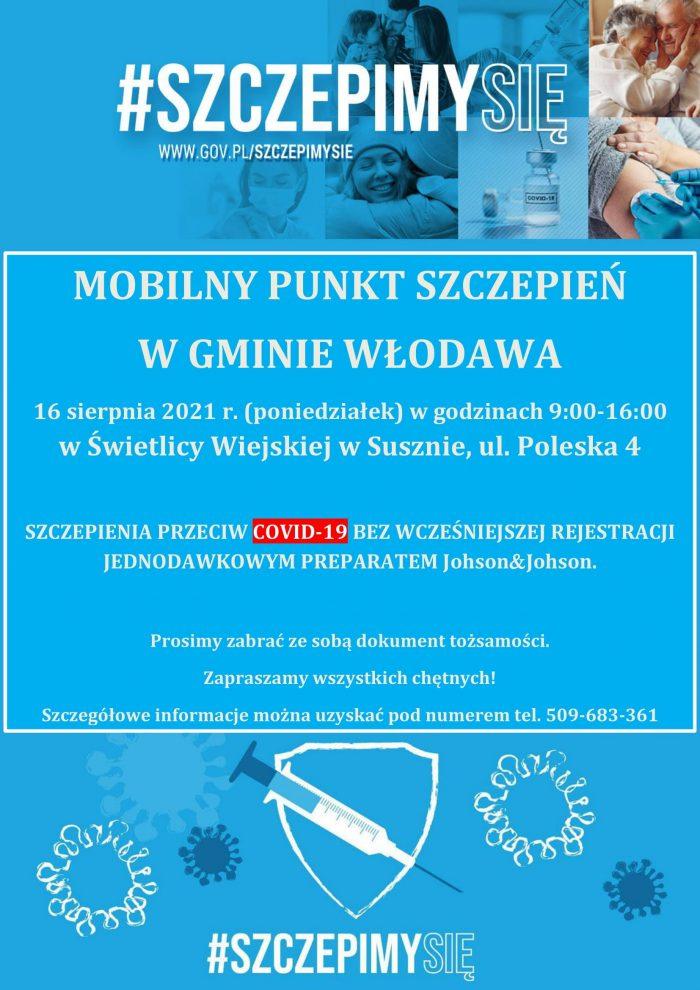 Mobilny punkt szczepień w Gminie Włodawa