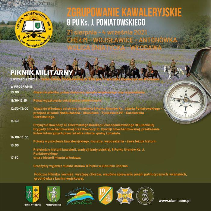 Plakat- Zgrupowanie Kawaleryjskie 8 Pułku Ułanów ks. J. Poniatowskiego